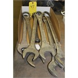 ASSORT LARGE WRENCHES