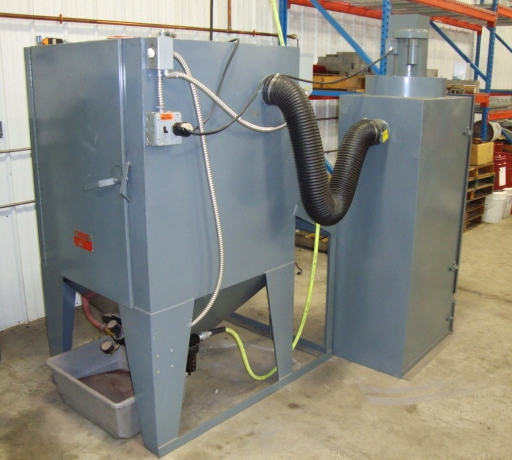 Trinco# TB24x24 Dry Blast Front-Load Cabinet with # 800PT Vacuum ...