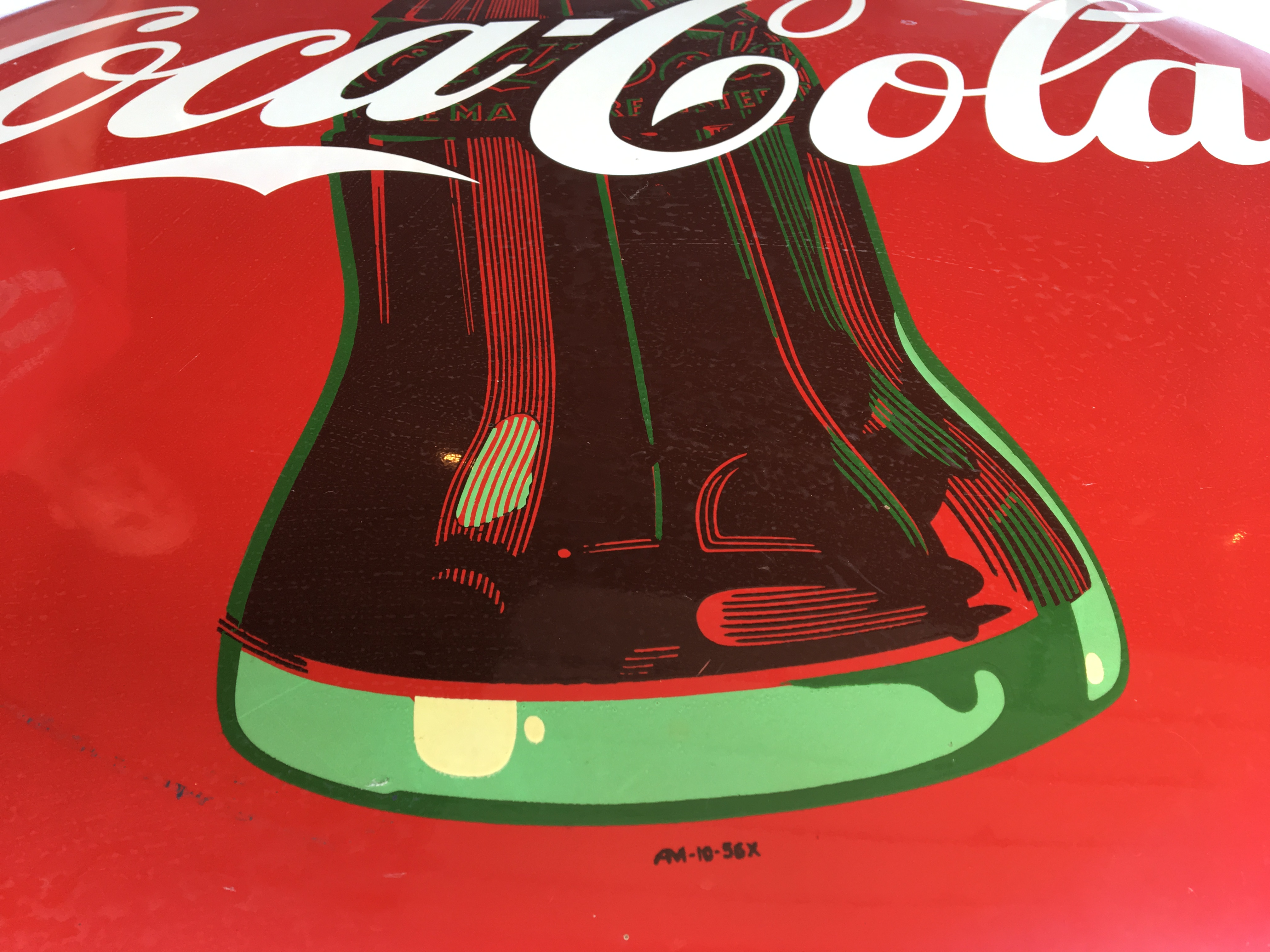 "Lot 19 - Coca-Cola 36"" Round Sign, AM-10-56X"