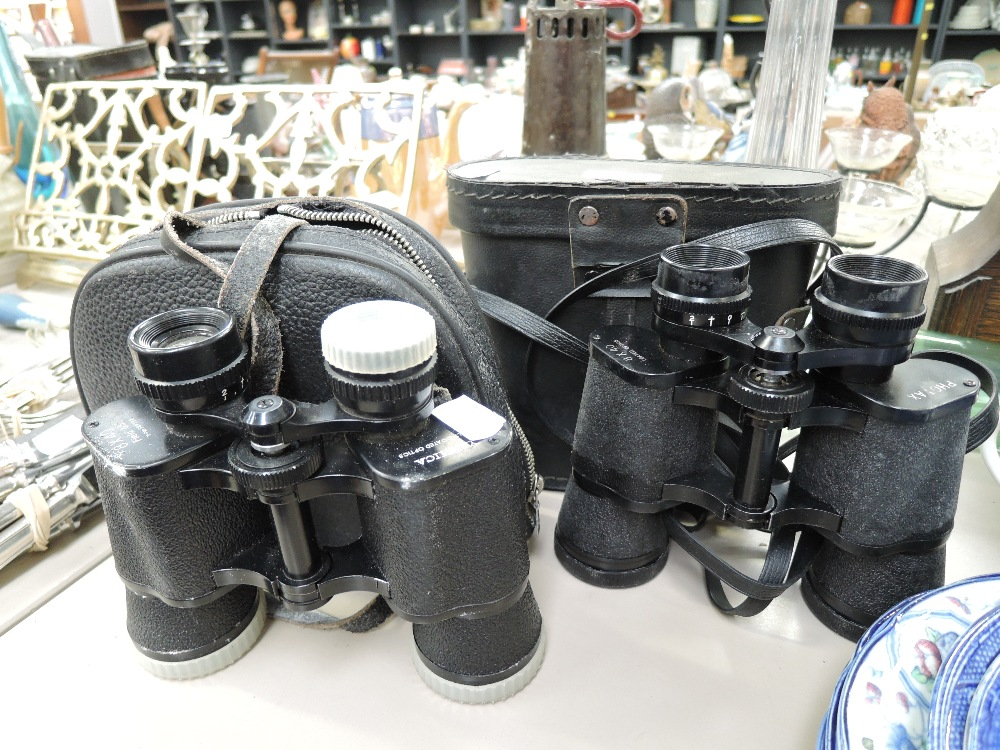 Lot 30 - Two sets of vintage binoculars including Yashica and Photax
