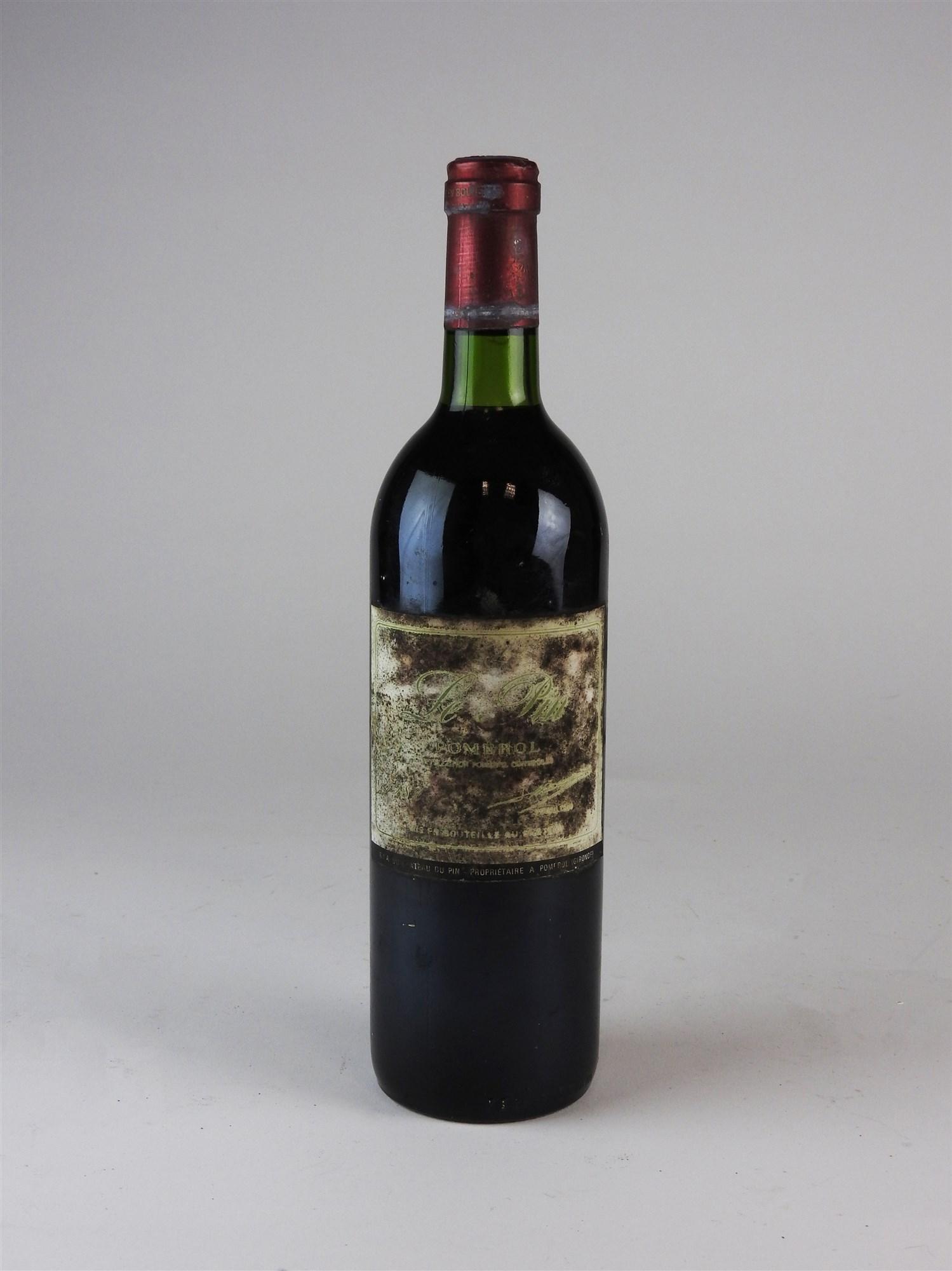 A Pomerol Le Pin red wine