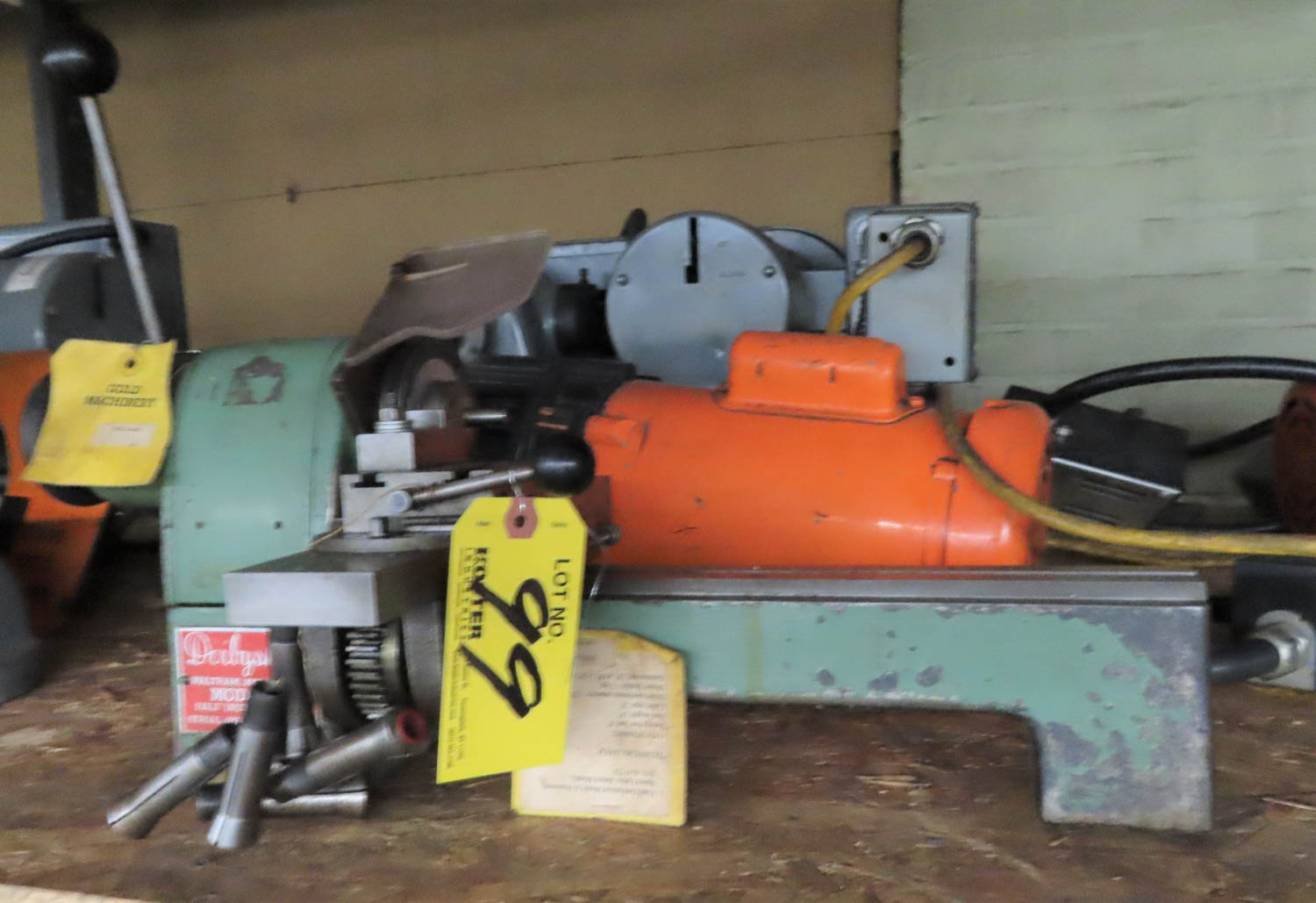 "Lot 99 - DERBYSHIRE MODEL A PRECISION SPEED LATHE, BENCH MODEL, 115V/1PH/60HZ, SWING OVER BED: 6"", BED"
