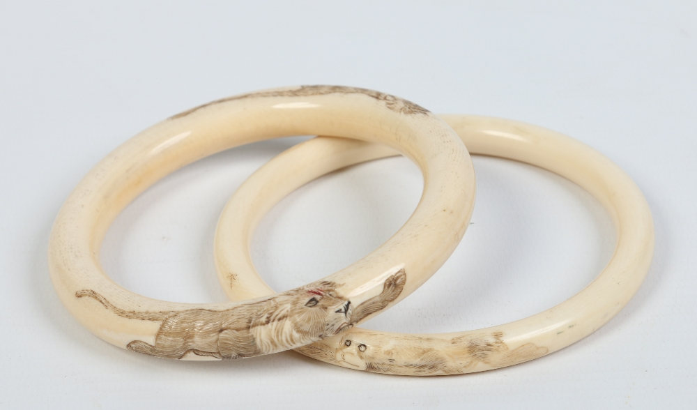 bracelets antique pin bone stodel ivory inez bangles bangle vintage
