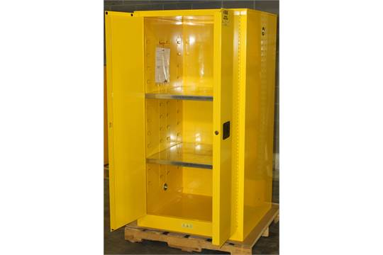 Previous  sc 1 st  Bidspotter.com & 60 GALLONS FLAMMABLE SAFETY STORAGE CABINET NEW NEVER USED MODEL ...