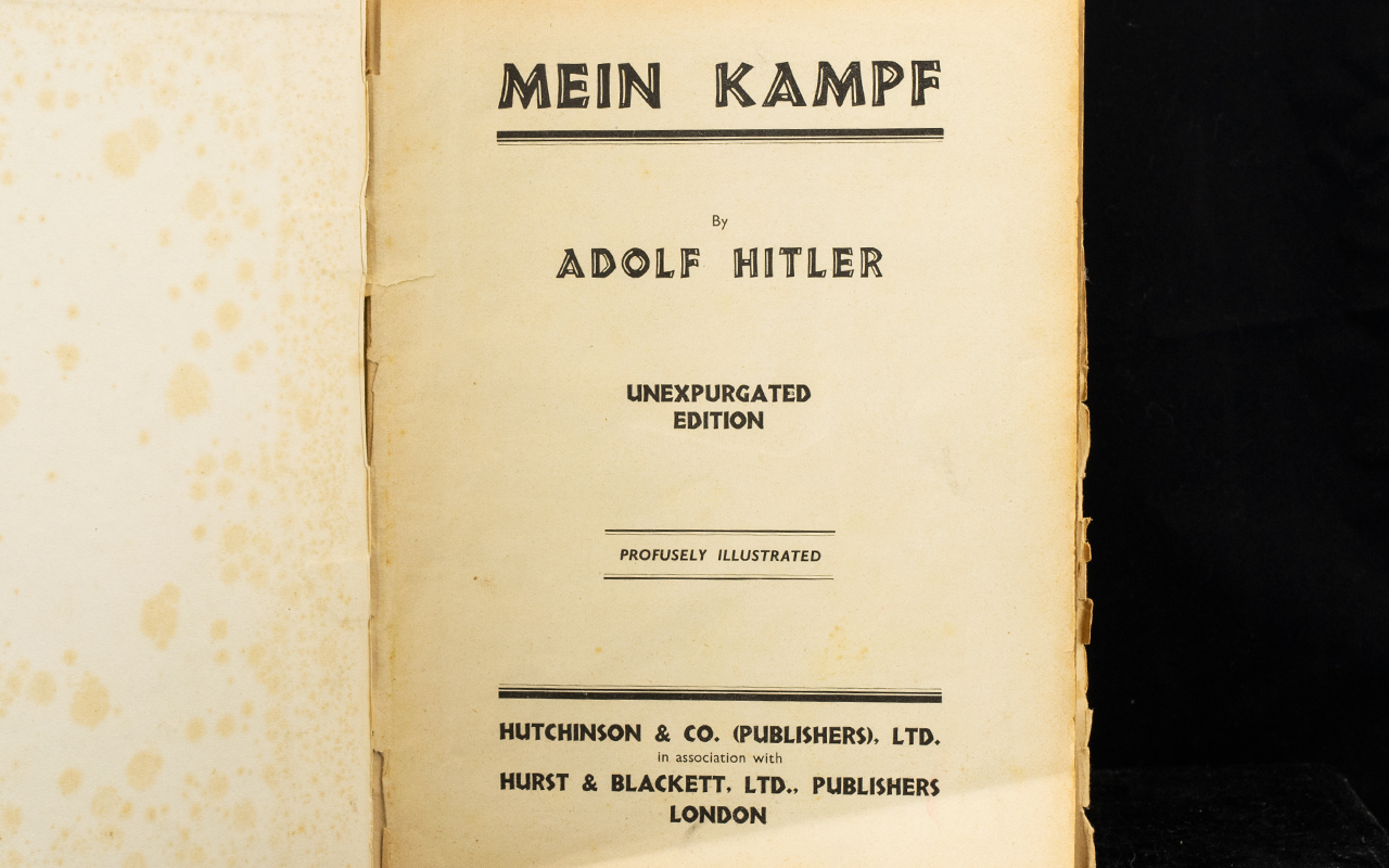 Lot 1316 - Mein Kampf By Adolf Hitler Unexpurgated
