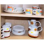 "A Midwinter Stonehenge ""Day"" teaset for four, a Midwinter part combination service and a"