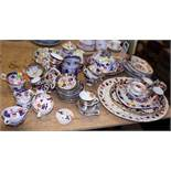 A Royal Crown Derby Imari pattern serving dish, assorted Derby and other Imari pattern tea and