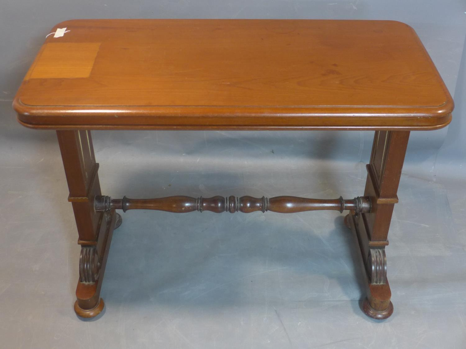 A 19th century mahogany three tier metamorphic buffet, on carved supports joined by turned - Image 2 of 4