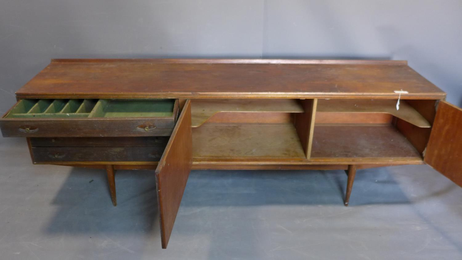 A mid century teak sideboard designed by Robert Heritage (b.1927) for Archie Shine Ltd, c.1958, same - Image 3 of 3