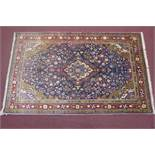 North west persian Sarouk Rug, 214cmx130cm, central double pendant medalion with repeat petal