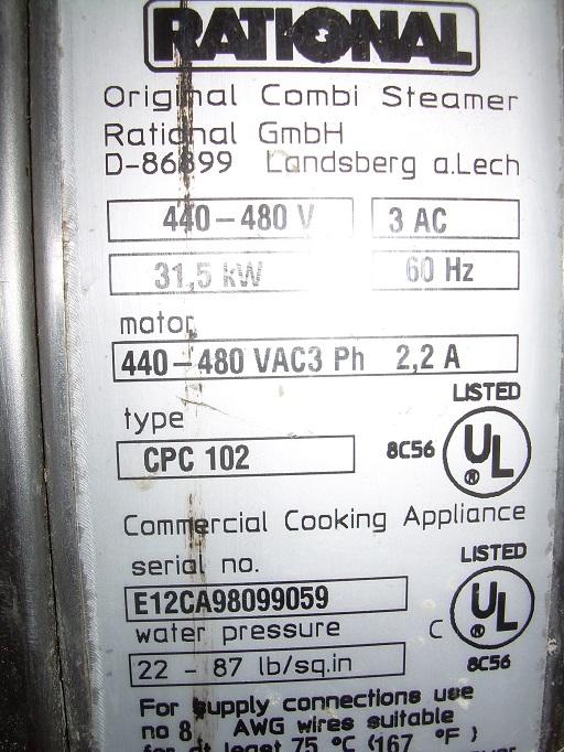 Rational Oven  Original Combi N  E12ca98099059  440