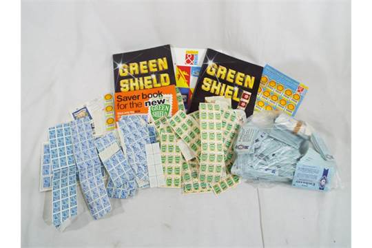 A collection of Embassy cigarette coupons, Green Shield
