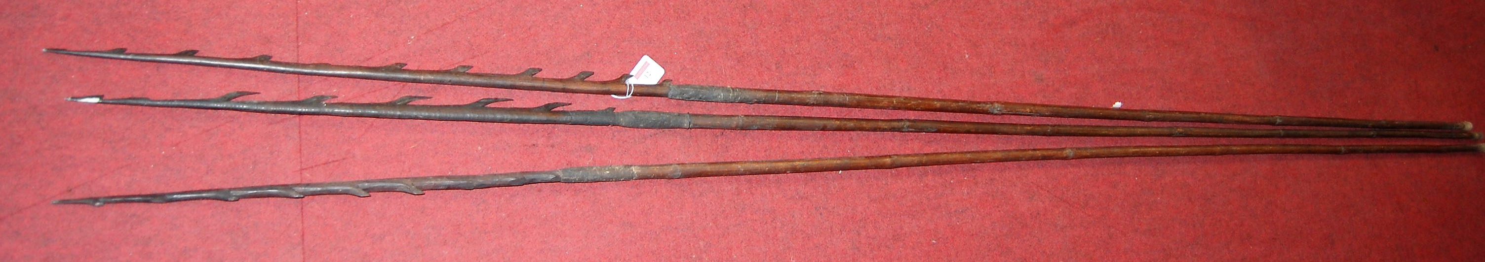 Lot 12 - A group of African fishing spears (possibly Shona), early 20th century