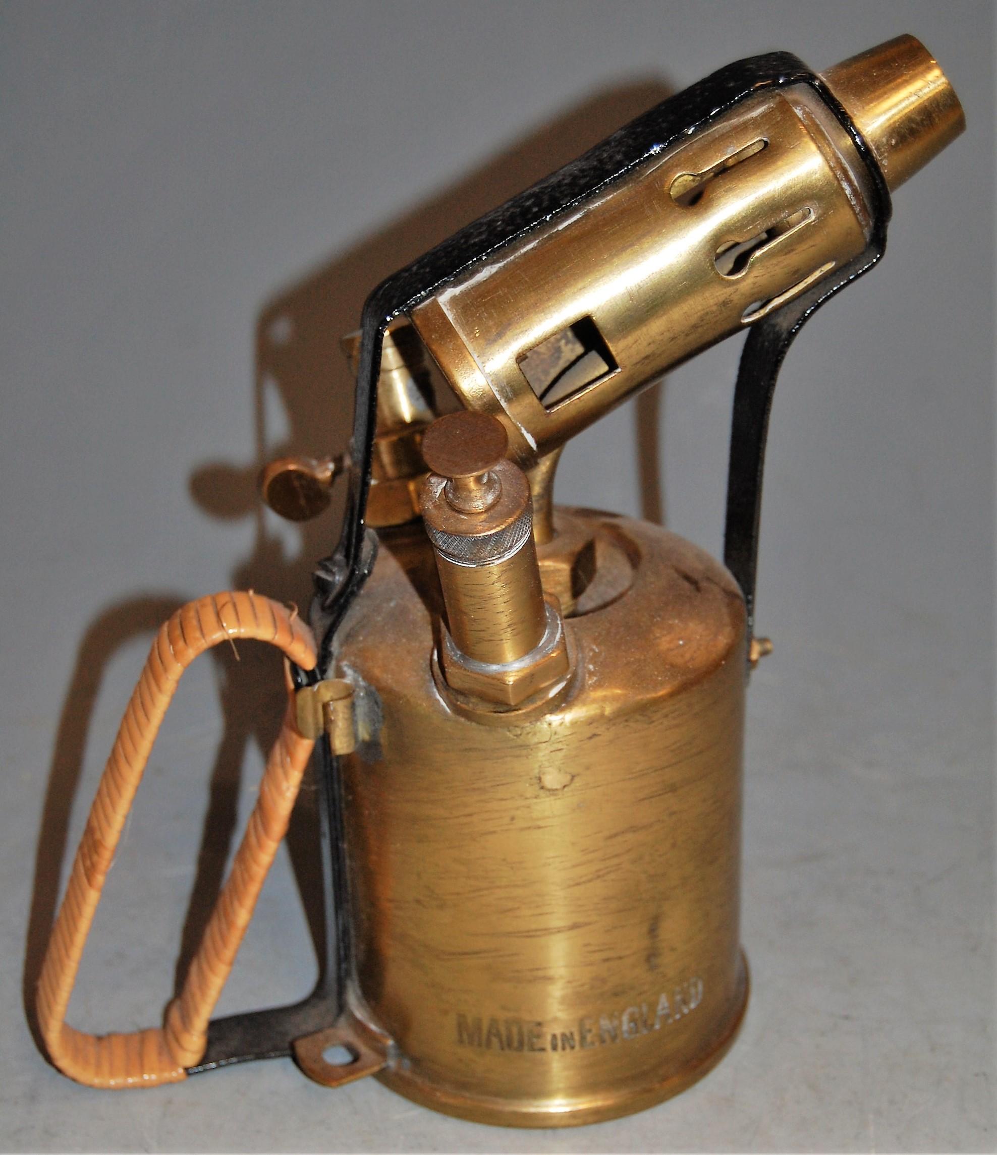 Lot 46 - A Corona brass paraffin blow lamp, No.107