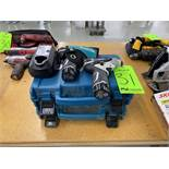(2) Makita TD090D Compact Drivers with (2) Lithium Ion Batteries and Charger