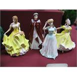 Royal Doulton China Figurines 'Happy Birthday'' HN4308, 'Summer' HN5322, 'Ninette HN 2379 and