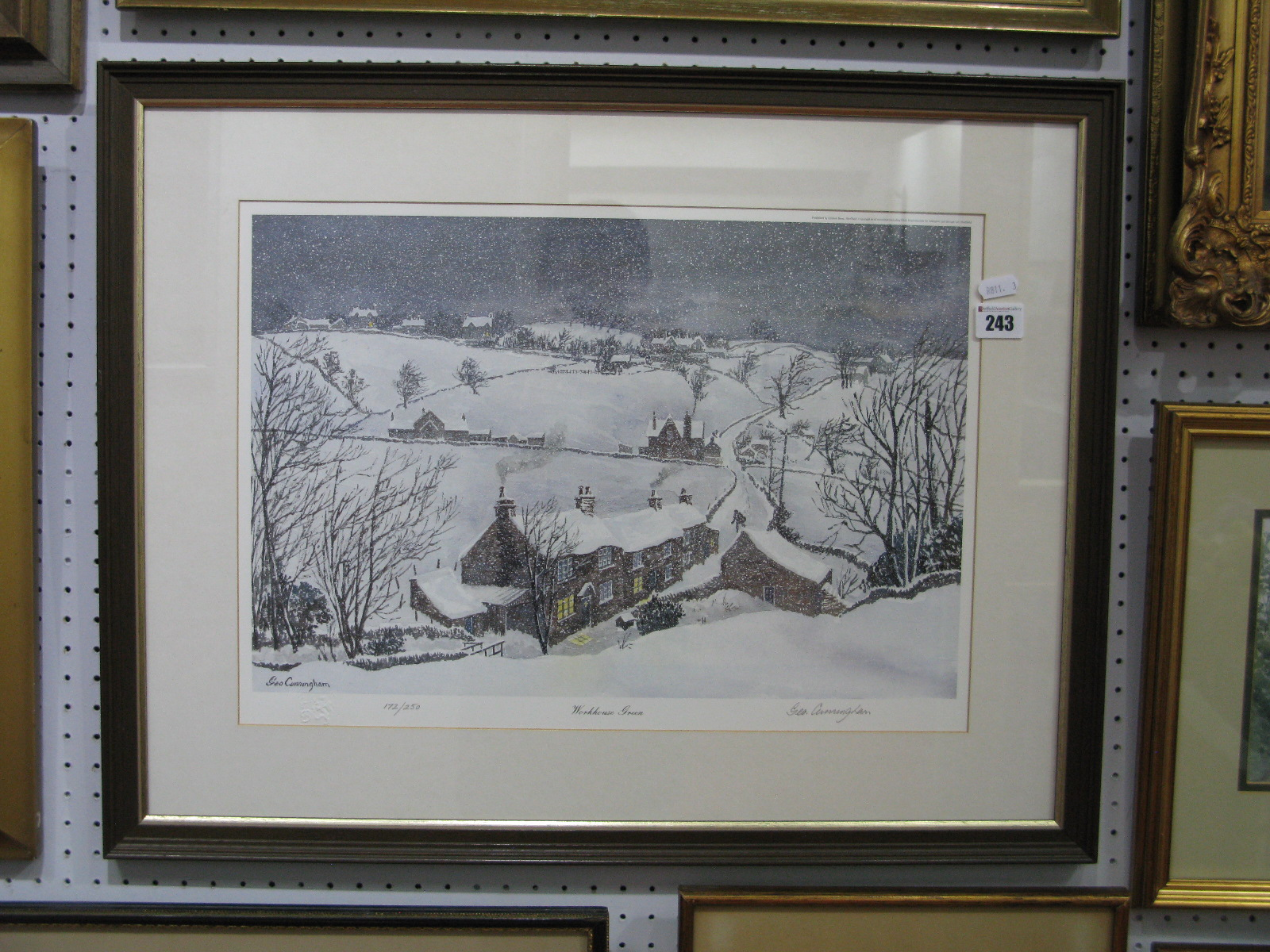 Lot 243 - George Cunningham 'Workhouse Green' Limited Editon Colour Print of 250, graphite signed, blind