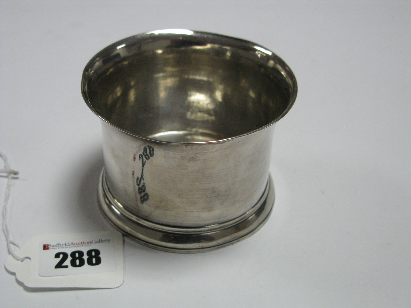 Lot 288 - A Hallmarked Silver Brandy Pan, (makers mark rubbed) London 1779, (lacking handle). *Lot 333