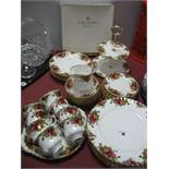 Royal Albert 'Old Country Roses' Dinner and Tea Ware; comprising seven dinner plates 27cm diameter,