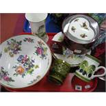 Caverswall Fruit Bowl, Royal Albert heart shaped trinket box, other ceramics:- One Tray