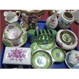 Poole Pottery Vase and Bowl, Astoria Hors D'oeuvre's, Paragon, Hollohala, Coalport and other