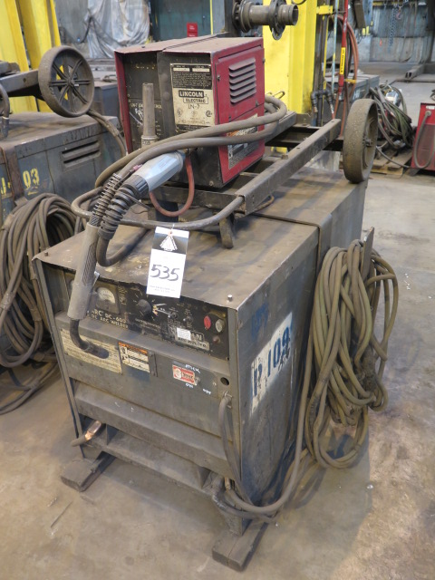 Lot 535 - Lincoln Idealarc DC-600 VV-CV DC Arc Welding Power Source w/ Lincoln LN-7 Wire Feeder