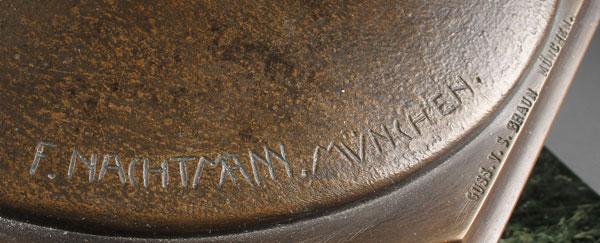 Lot 350 - FRANZ NACHTMANN(German 1883-1942) The Centaur  Bronze Signed on base F. NACHTMANN-MUNCHEN and with