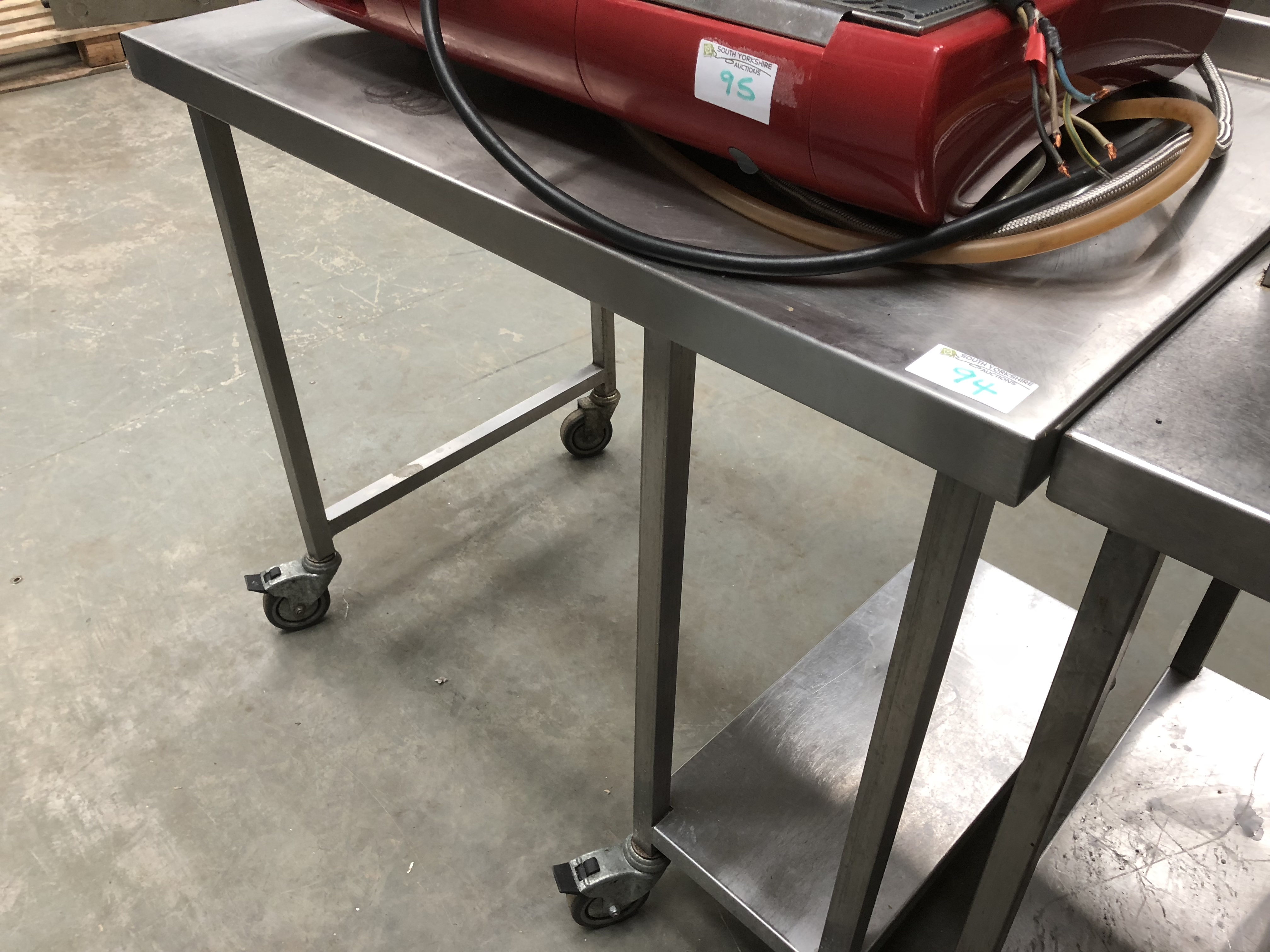 Lot 94 - Stainless Steel Table