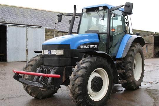New Holland TM150 40K (front linkage, cab suspension, displaying