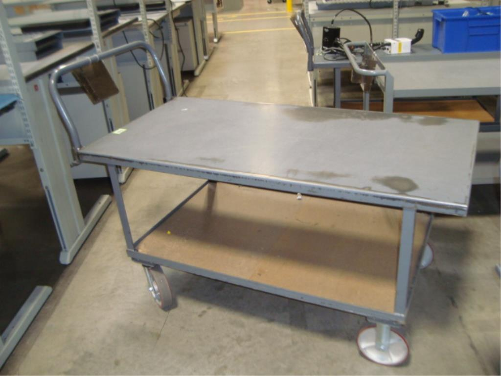 Heavy Duty Mobile Material Cart - Image 2 of 12