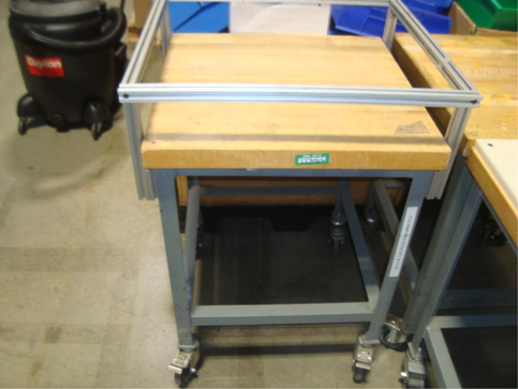 Mobile Butcher Block Top Tables - Image 5 of 16