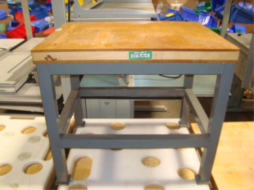 Mobile Butcher Block Top Tables - Image 9 of 14
