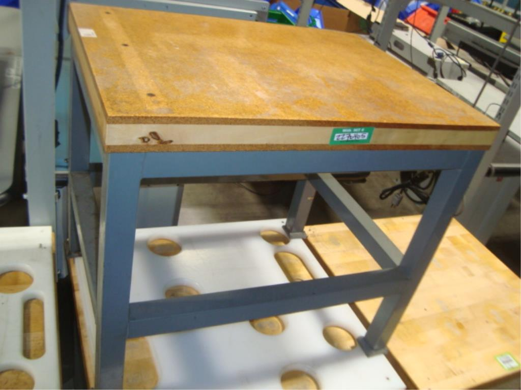 Mobile Butcher Block Top Tables - Image 13 of 14