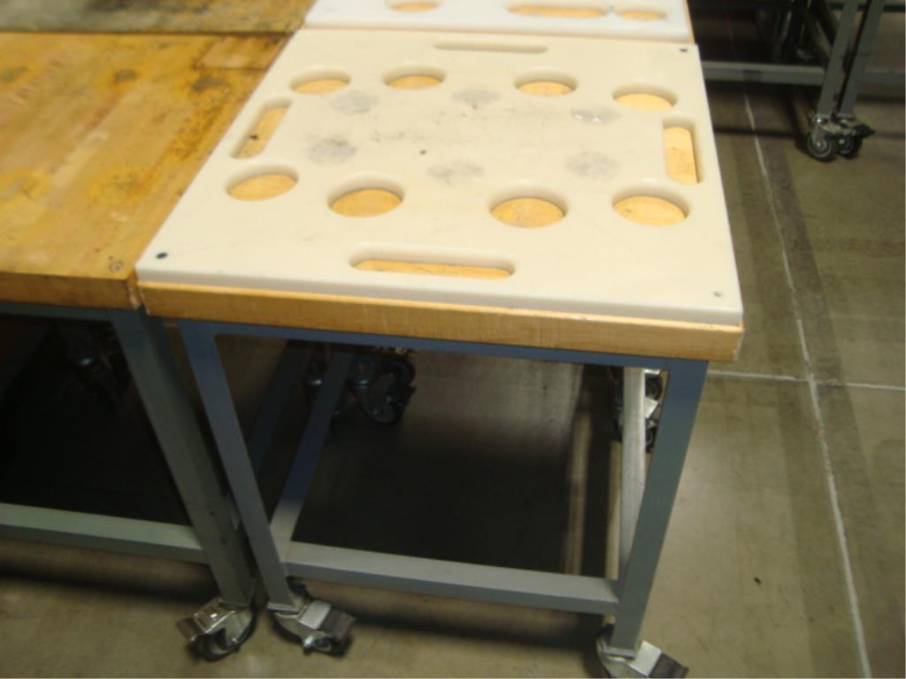 Mobile Butcher Block Top Tables - Image 7 of 16
