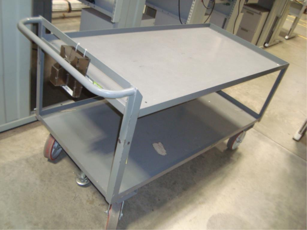 Heavy Duty Mobile Material Cart - Image 2 of 10
