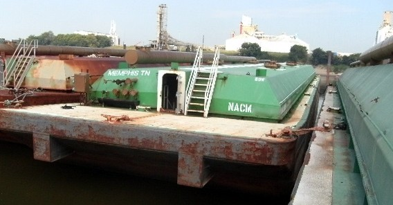 Lot 10 - BARGE #NACM98110, (1) USED INDEPENDENT RIVER/SEA GOING TANK BARGE: approximate barge dimensions 200'