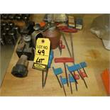 LOT OIL CAN, TORX WRENCHES, TOOL POST HOLDERS, ETC.