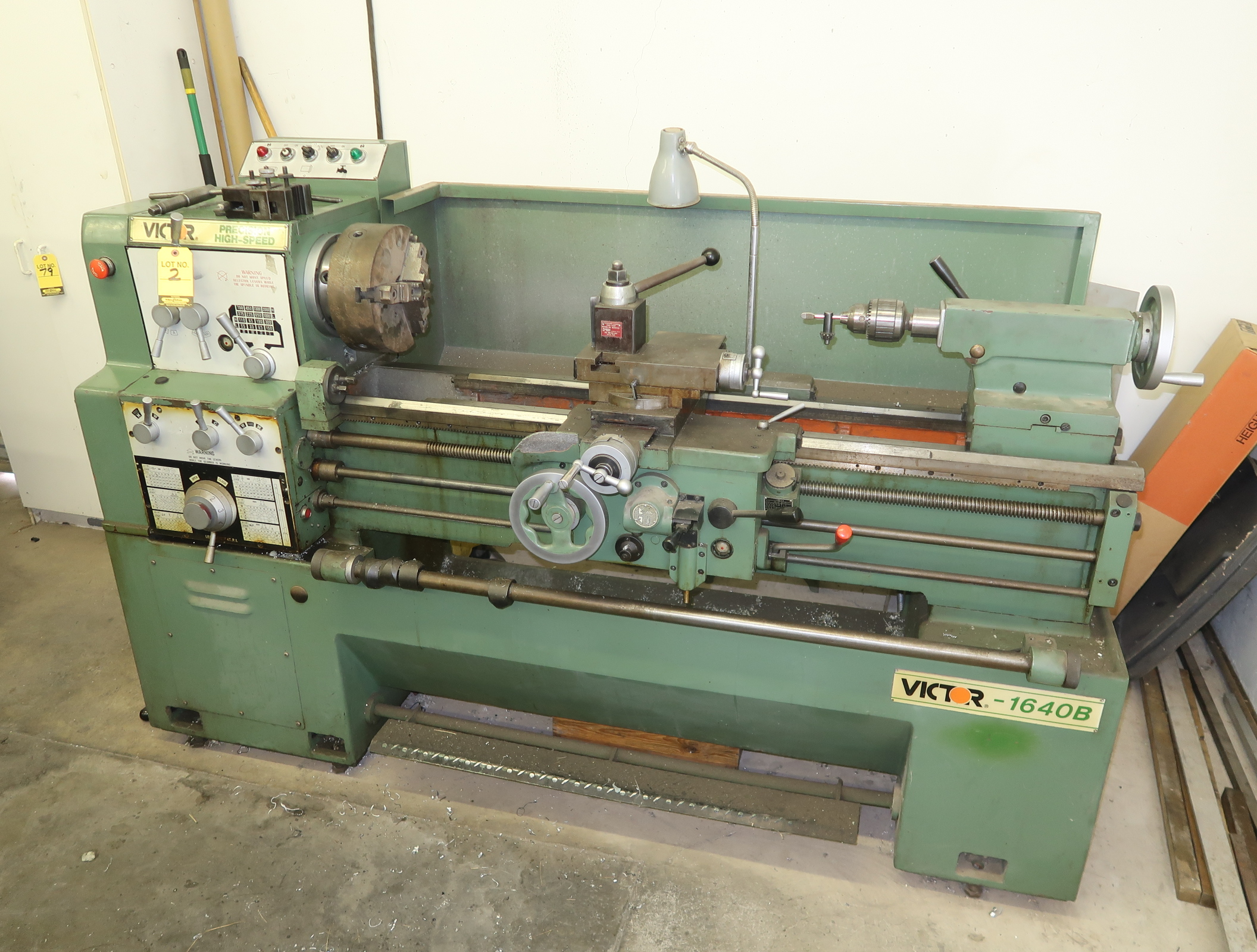 VICTOR 1640B GAP BED, HIGH SPEED ENGINE LATHE, SN. 19112123, COLLET CLOSURE, QUICK CHANGE TOOL POST,