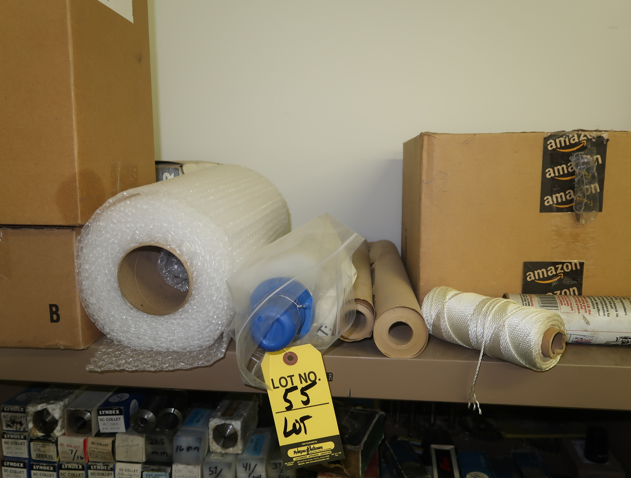 LOT PACKAGING SUPPLIES (TOP OF CABINET)