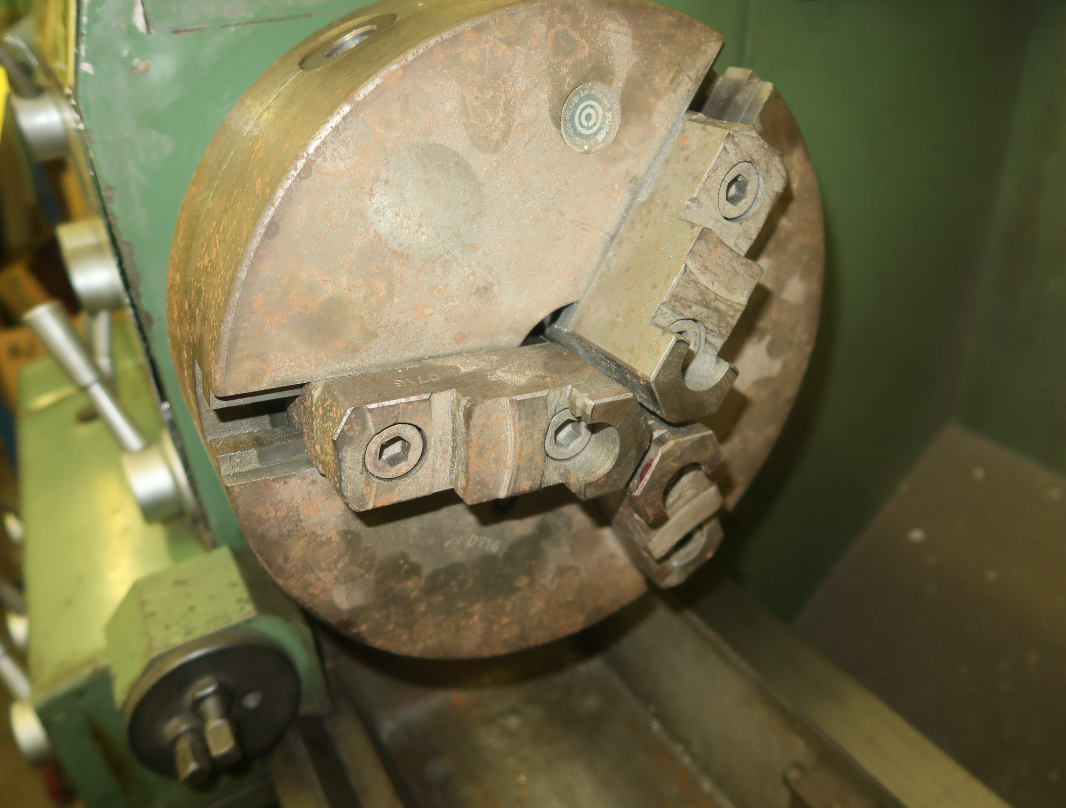 VICTOR 1640B GAP BED, HIGH SPEED ENGINE LATHE, SN. 19112123, COLLET CLOSURE, QUICK CHANGE TOOL POST, - Image 4 of 7