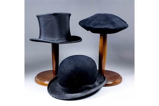 0f5105cba0bbb A black bowler hat by Tress  amp  Co.