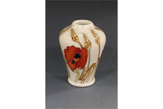 A Moorcroft Harvest Poppy Vase