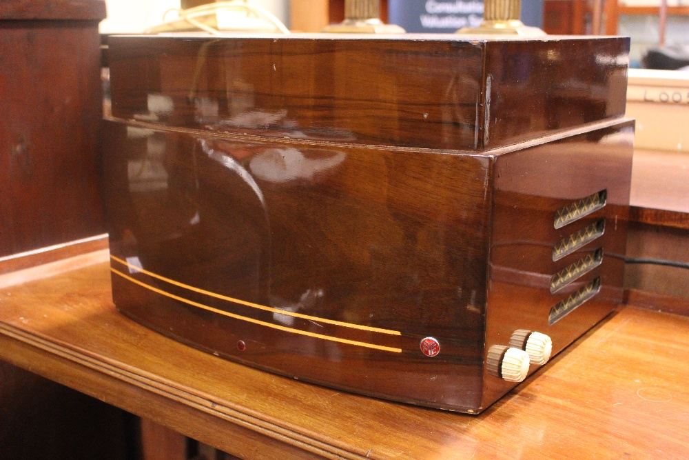 "Lot 227 - A VINTAGE 'PYE' BOXED RECORD PLAYER, with high gloss look, 17.5"" x 13"" x 11"" approx case"