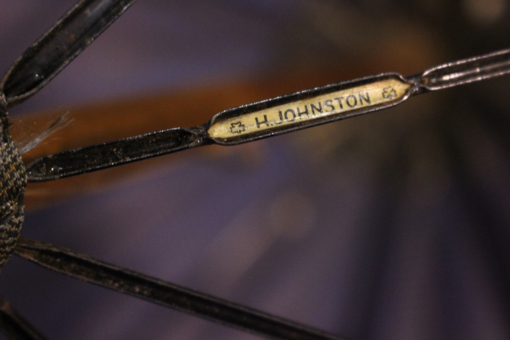 """A LADY'S PARASOL / UMBRELLA, with carved duck head handle, by the maker H. Johnson Ltd, 25"""" long, - Image 4 of 5"""