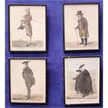"ROBERT DIGHTON, (ENGLISH 1751 – 1814), A SET OF FOUR FRAMED PRINTS, ""4 VIEWS"", (i) John Ireland, """