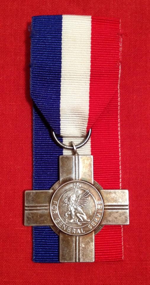 Lot 24 - Silver General Service Cross Medal.