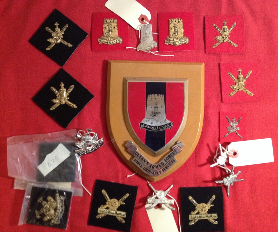Lot 1 - Sultan of Oman Land Forces badges.