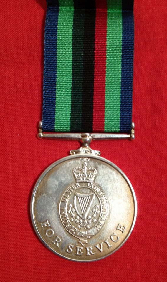 Lot 13 - Royal Ulster Constabulary Service Medal QEII - COPY