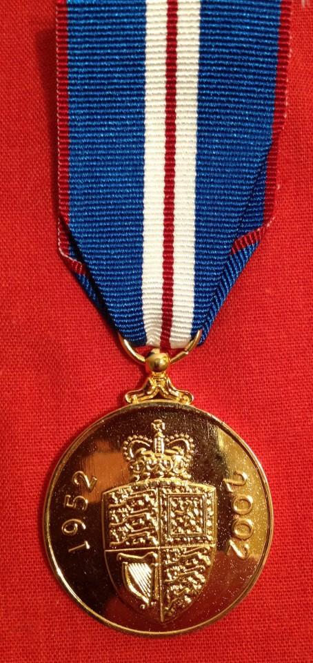 Lot 48 - 2002 QEII Golden Jubilee Medal - Old Queen head