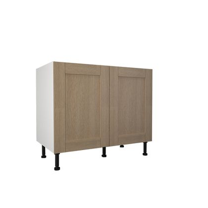 1000mm base cabinet with 2x hiline doors white kitchen for Kitchen cabinets 1000mm